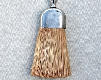 Vintage Miniature Wisk Broom with Silverplate Handle. 1950s.