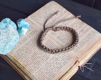Men's Bracelet. Custom Colours. Hemp Bracelet. Anklet. Men's Bracelet. Hippie Bracelet. Boho Jewelry. Natural Jewelry. Eco-Friendly.