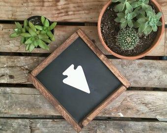 Arrowhead | Native American | Warrior | Wanderer | Framed Wooden Sign