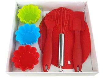 Silicone Baking Utensils and Cupcake Cups Set, 10-Piece