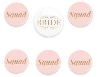 Bachelorette Party Pins Bridal Party Buttons Bridal Shower Pins