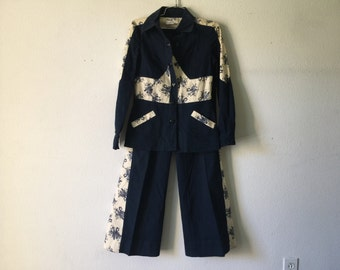 Vintage 60s Jacket Bell Bottom Set
