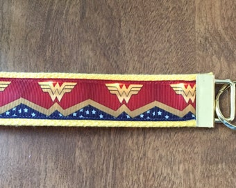 Wonder Woman Key Chain Zipper Pull Wristlet