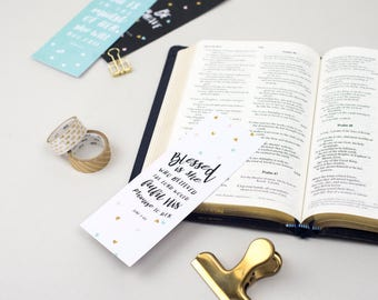 Pretty Bookmark - Blessed is She | Book markers | Biblical Bookmarks | Gifts for Women
