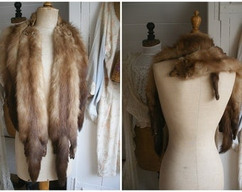 Vintage real fur wrap, stole