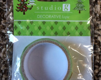 New in package, studio G green Argyle washi tape