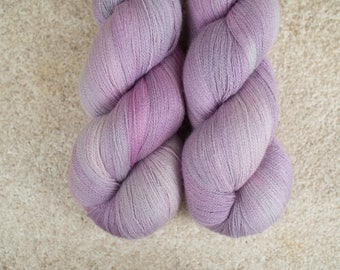Hand Dyed 80/20 Extra Fine Merino/Silk Lace Weight Yarn - 2ply - 100 grams - 1200m/1312yards - OOAKpink