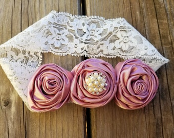 Hair accessory, Girls accessory, Rose Headband, Valentines Day, Girls Headband, Baby Headband, Lace Headband, Bridal Headband, Photo Prop