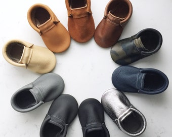 Leather Baby Loafer Moccasins