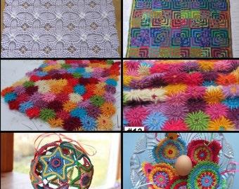 Crochet Patterns - Pick Any 5 Crochet Patterns Bundle from ASmartPattern, baby blanket,monkey,star balls,animals,baby mobile,stars garland