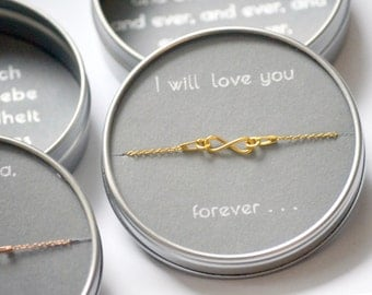 925 Silber Armband personalisierbar, Infinity