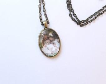Custom Cabochon Pendant Necklace