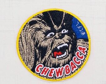 8cm, Star Wars Chewbacca Iron On Patch (P-378)