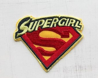 6.7 x 5.5 cm, Supergirl Iron On Patch (P-238)