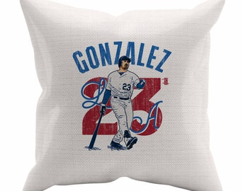 Adrian Gonzalez Arch B Los Angeles D Decorative Pillow MLBPA Officially Licensed
