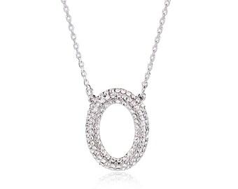 Letter Swarovski Element Necklace Crystal Necklace Gift Necklace Bridal Pendant Necklace Mother's Day Gift NA110180