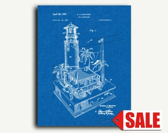 Patent Print - Toy Lighthouse Patent Wall Art Poster