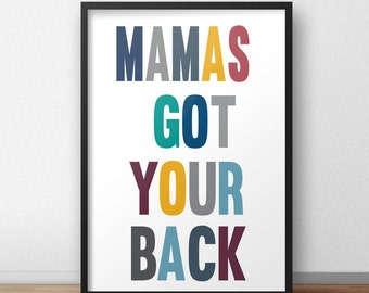 Mustard, grey, teal, petrol blue or black and white typography A4 print childrens nursery bedroom wall art / poster