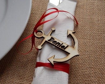 Place card 'Anquor' - wedding decoration, guest present, reservation card, wedding accessoires