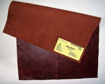 dark rust leather 12x17