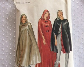 1980 Butterick pattern 3361 Size medium, Misses' Cape