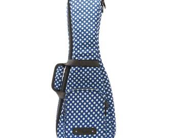 Beaumont Handmade Blue Polka Dot Ukulele Case/Bag