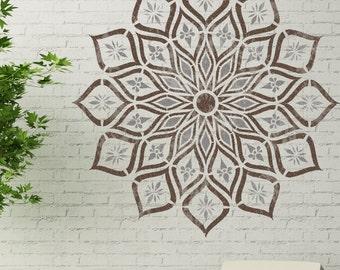 KANPUR Mandala Stencil - Indian Floor Wall Stencil - KANP01