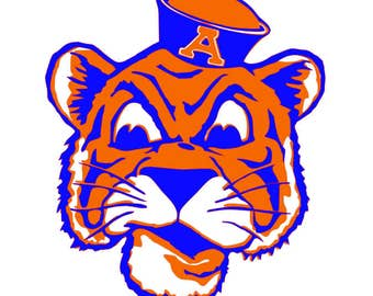 Auburn Tiger SVG, PNG, SCAL, Silhouette studio
