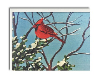 Cardinal Notecards - Red Bird Cards - Bird Stationary