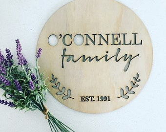 Wooden name plaque, personalised plaque, door sign, home decor, name sign, decor, family decor, family name sign, family plaque