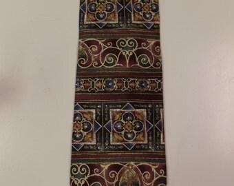 Silk Bill Blass Retro Necktie