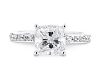 Engagement Ring 11.14 Carat Pave Diamond Engagement Ring  14K White Gold  #J49353 FREE SHIPPING