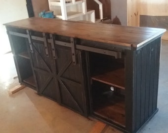 primitive buffet/tv stand