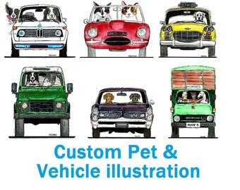 Custom Animal and Vehicle illustration