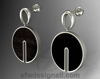 Sustainable Harvest Wood and Sterling Silver Earring - 48