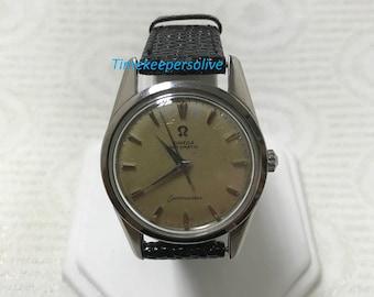 Vintage Original Omega Automatic Seamaster 1960s Elegant Swiss Watch Wristwatch