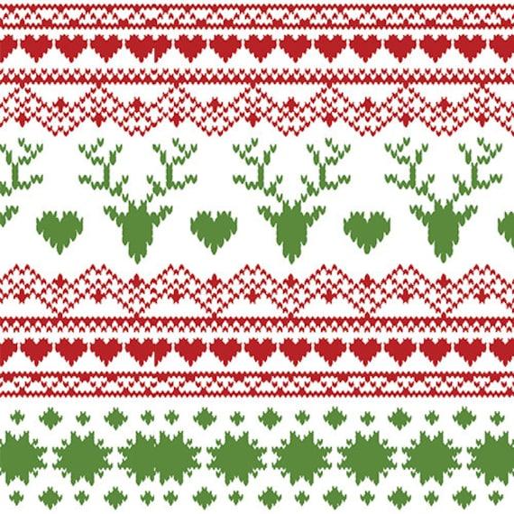 Jolly Holiday Fair Isle Knit Fabric, Knit Fabric by the Yard, Girl ...
