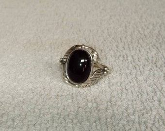 925 Sterling Silver Black Onyx Ring - Big Size Ring