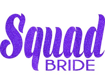 SQUAD Bride Iron On Decal