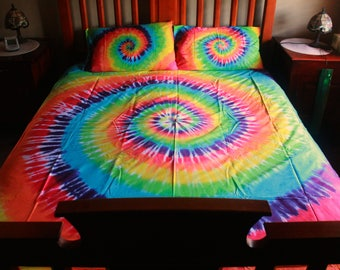 REDUCED 100% Cotton  Tie Dye King Doona Cover