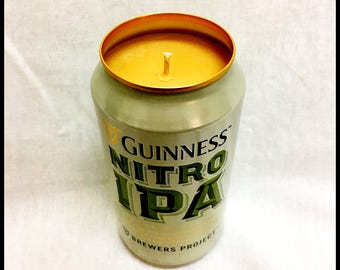 Banana Nut Bread Scent Beer Can CANdle