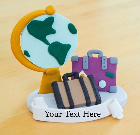Travel Cake Topper - Keepsake - Adventure - Baby Shower - Graduation ...