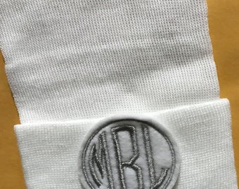 Newborn Hospital Hat Monogramed with Initials! For a BOY or GIRL! You Choose Hat and Applique Color. 1st Keepsake! Super Cute! Personalized!
