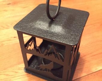 Wolf Steel Candle Lantern