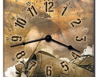 Vintage Aircraft Decorative Kitchen Wall Clock