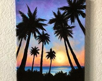 Sunset in Paradise - Original Acrylic Painting