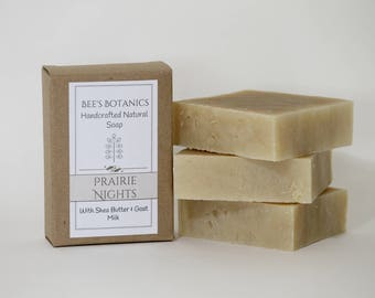 PRAIRIE NIGHTS Homemade Soap, BeesBotanics all Natural Soap, Guest Soap, Natural Luxury Artisan Soap, Valentine Gift, Facial Soap
