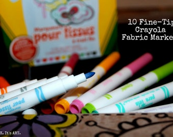 10-Pack Heat Set Fabric Markers