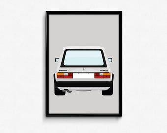 Mk1 Volkswagen Golf GTI A3 Print