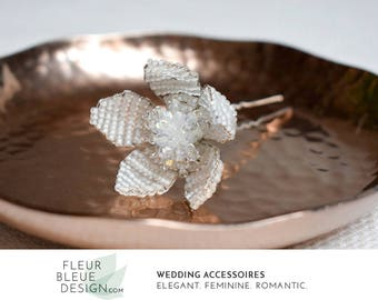 beaded headpiece | flower fascinator | wedding hair pin | wedding headpiece | wedding pearl headpiece | bridal hair accessories